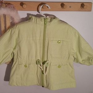 Nordstrom Size 12 Months Green Check Hooded Jacket